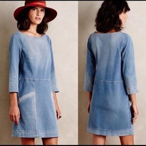 NWOT Anthropologie AG Cocoon Denim Dress